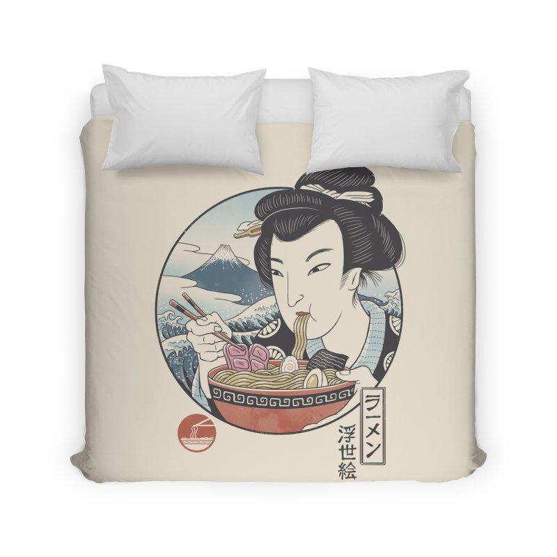 A Taste of Japan Home Duvet by Vincent Trinidad Art