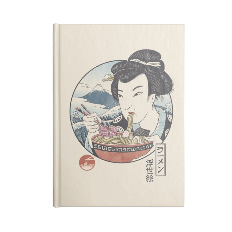 A Taste of Japan Accessories Blank Journal Notebook by Vincent Trinidad Art