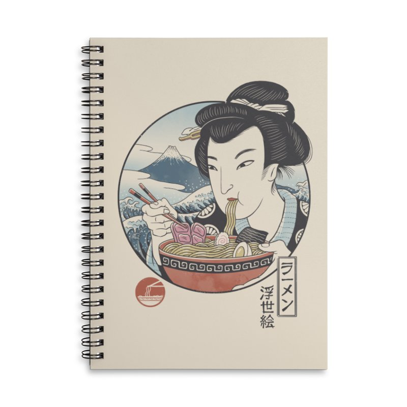 A Taste of Japan Accessories Lined Spiral Notebook by Vincent Trinidad Art