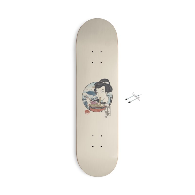 A Taste of Japan Accessories With Hanging Hardware Skateboard by Vincent Trinidad Art