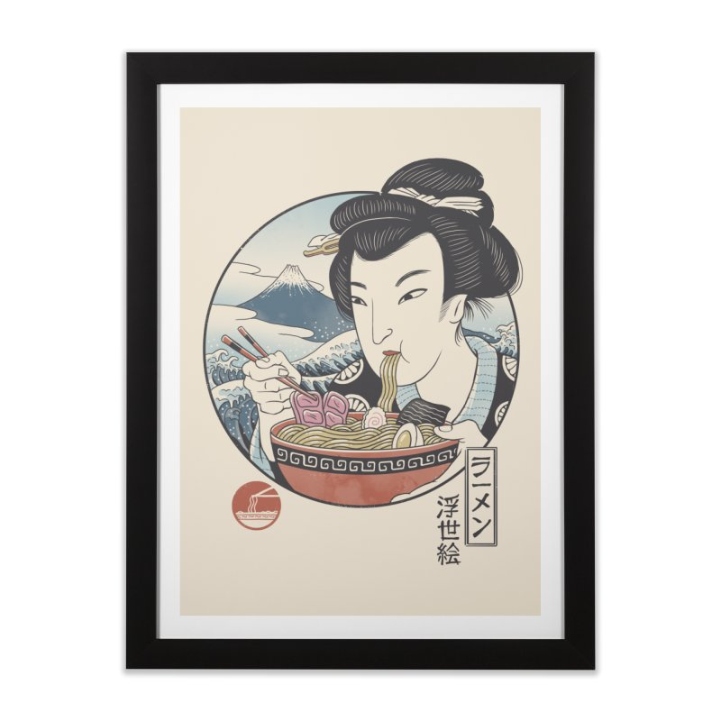 A Taste of Japan Home Framed Fine Art Print by Vincent Trinidad Art