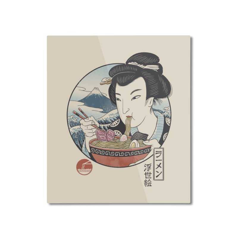 A Taste of Japan Home Mounted Aluminum Print by Vincent Trinidad Art