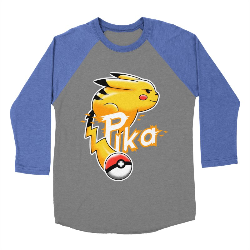 Pika Volt Men's Baseball Triblend T-Shirt by vincenttrinidad's Artist Shop