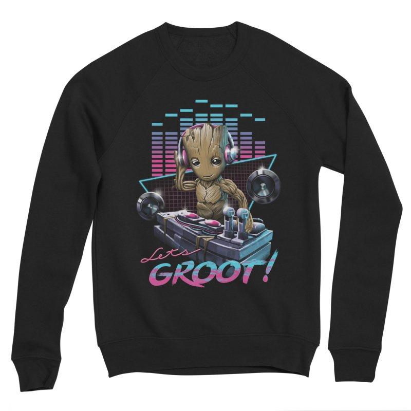 Let's Groot Women's Sponge Fleece Sweatshirt by Vincent Trinidad Art