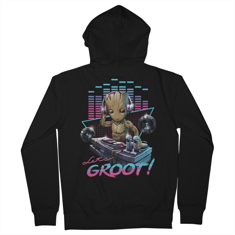 Let's Groot Women's French Terry Zip-Up Hoody by Vincent Trinidad Art