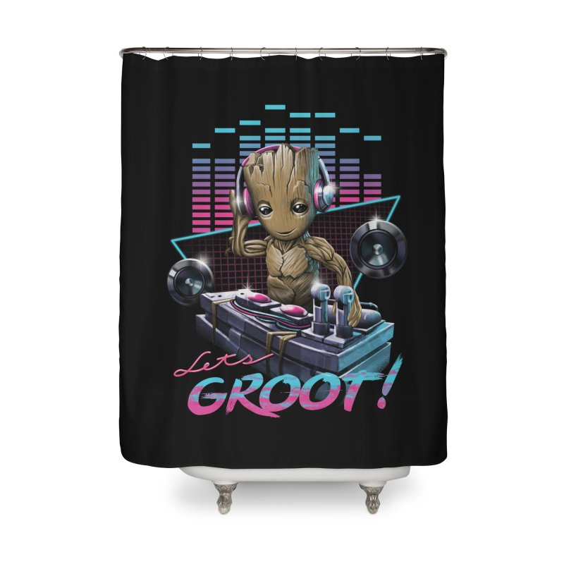 Let's Groot Home Shower Curtain by Vincent Trinidad Art