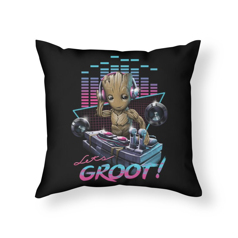 Let's Groot Home Throw Pillow by Vincent Trinidad Art