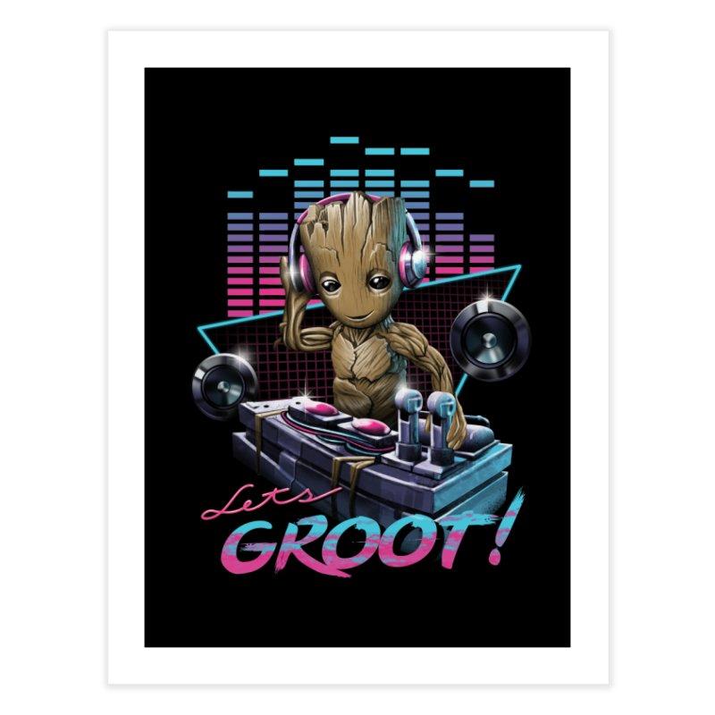 Let's Groot Home Fine Art Print by Vincent Trinidad Art