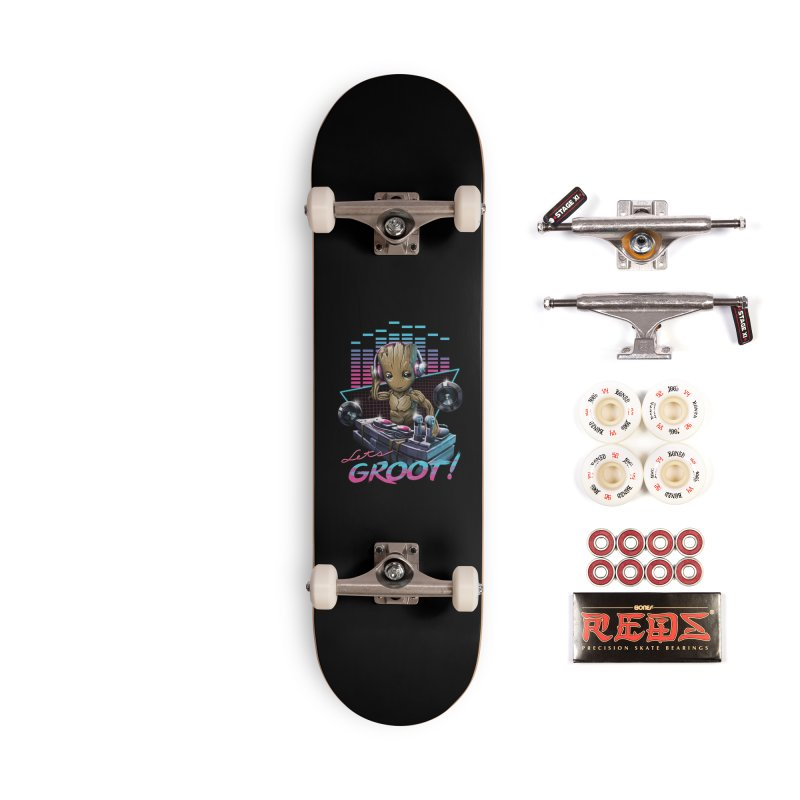 Let's Groot Accessories Complete - Pro Skateboard by Vincent Trinidad Art