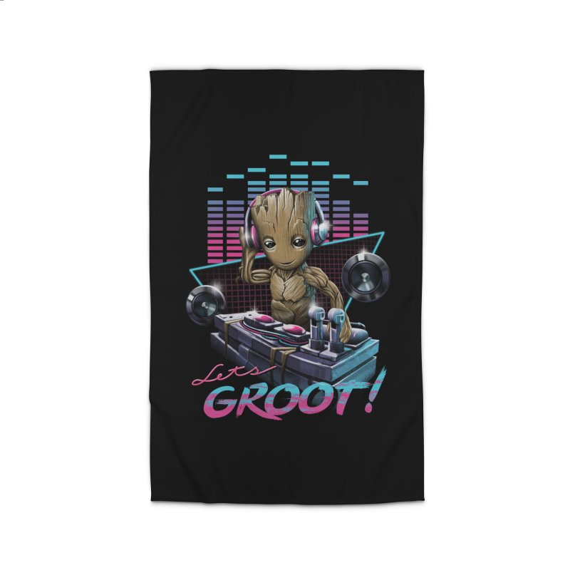 Let's Groot Home Rug by Vincent Trinidad Art