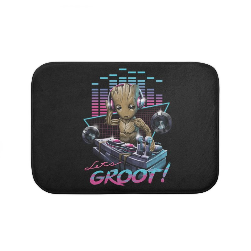 Let's Groot Home Bath Mat by Vincent Trinidad Art