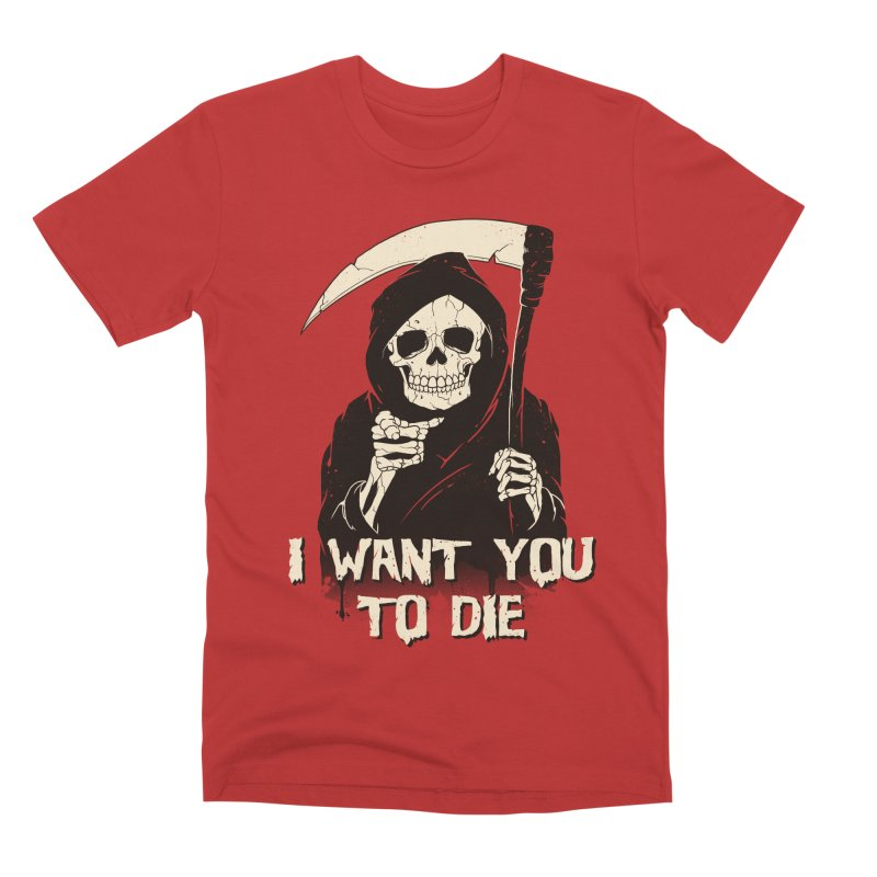 Death Chose You! Men's Premium T-Shirt by Vincent Trinidad Art