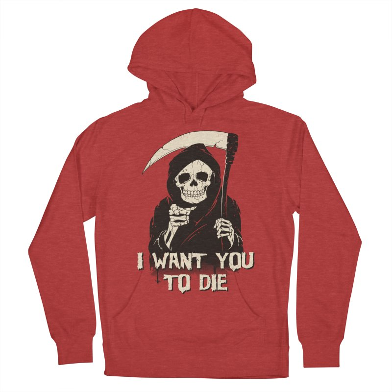 Death Chose You! Women's French Terry Pullover Hoody by Vincent Trinidad Art