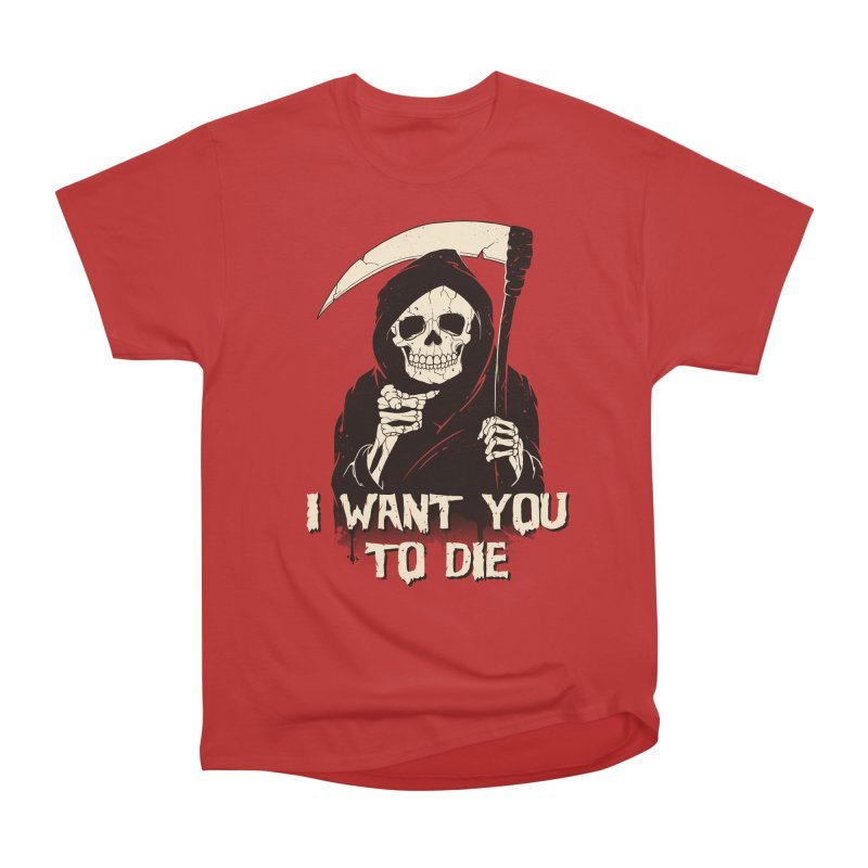 Death Chose You! Women's Heavyweight Unisex T-Shirt by Vincent Trinidad Art
