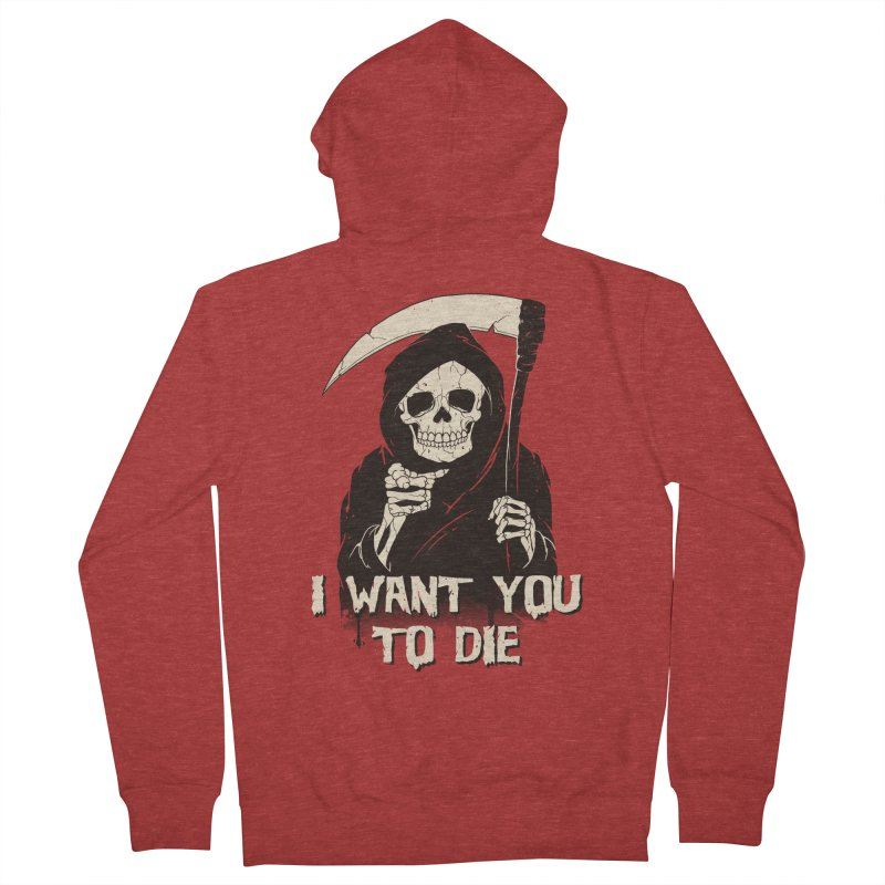 Death Chose You! Men's French Terry Zip-Up Hoody by Vincent Trinidad Art