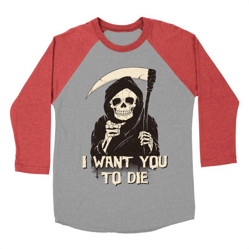 Death Chose You! Women's Baseball Triblend Longsleeve T-Shirt by Vincent Trinidad Art