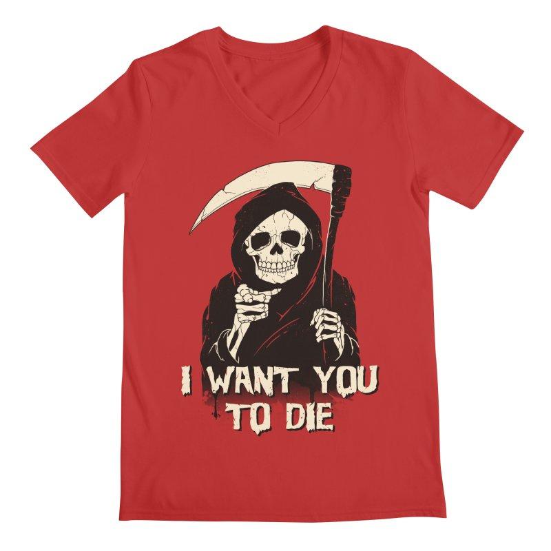 Death Chose You! Men's Regular V-Neck by Vincent Trinidad Art