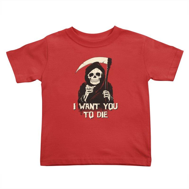 Death Chose You! Kids Toddler T-Shirt by Vincent Trinidad Art