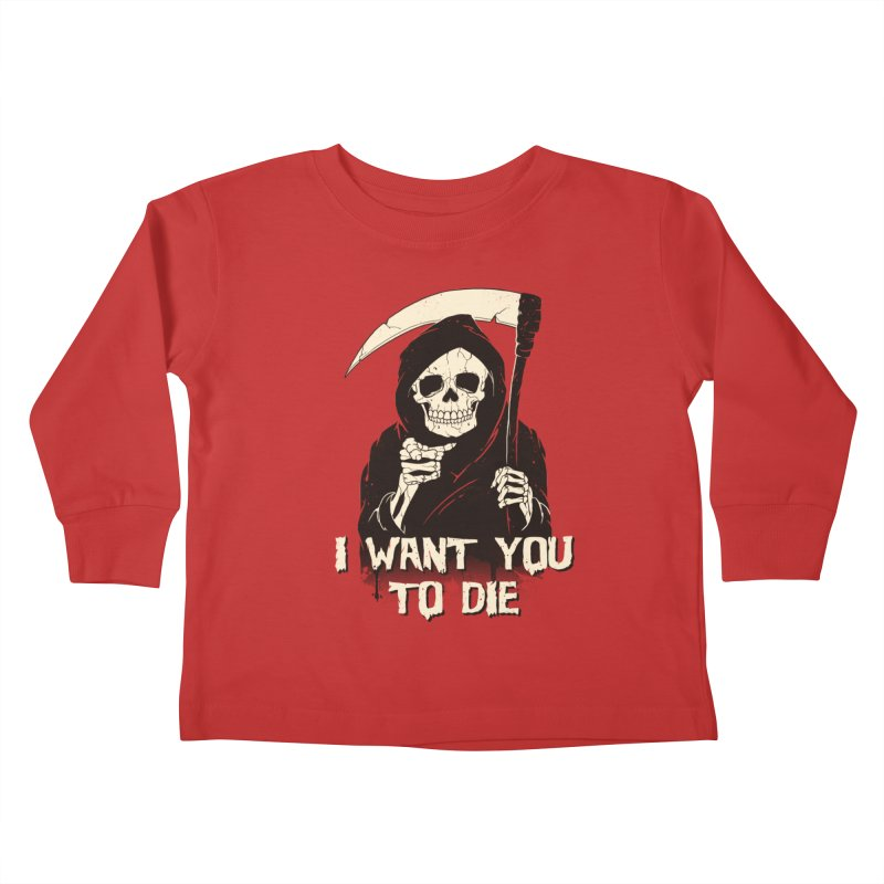 Death Chose You! Kids Toddler Longsleeve T-Shirt by Vincent Trinidad Art