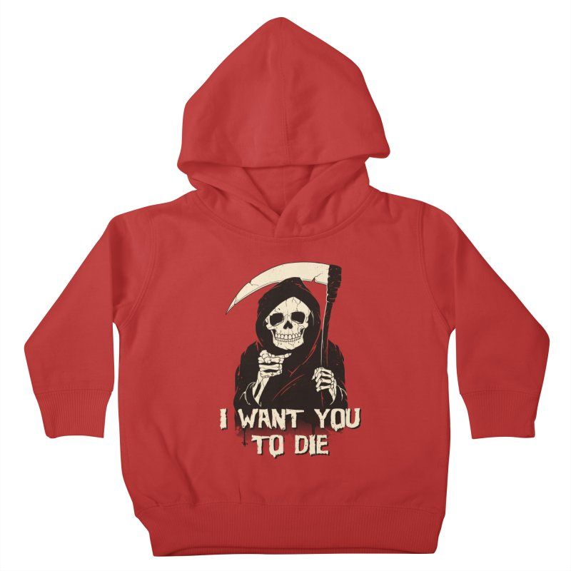 Death Chose You! Kids Toddler Pullover Hoody by Vincent Trinidad Art