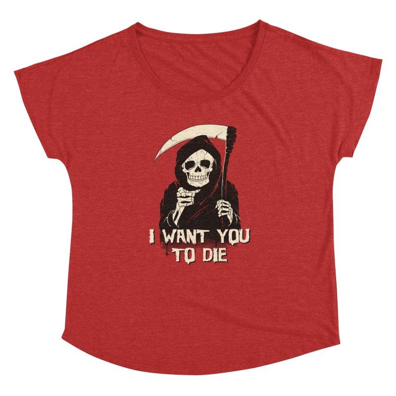 Death Chose You! Women's Dolman Scoop Neck by Vincent Trinidad Art