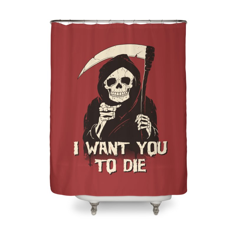Death Chose You! Home Shower Curtain by Vincent Trinidad Art