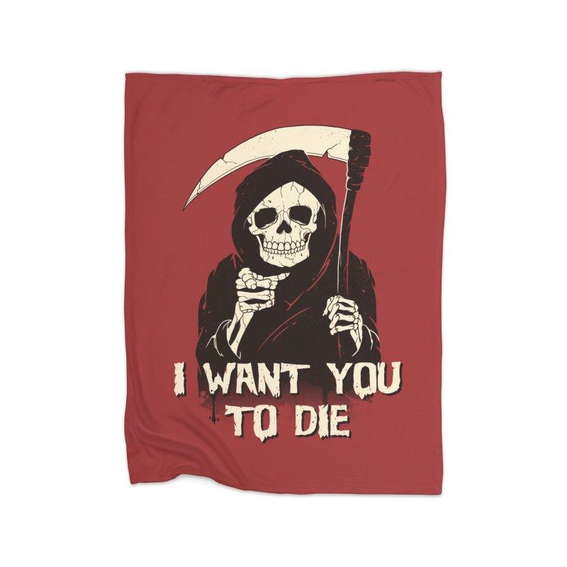 Death Chose You! Home Fleece Blanket Blanket by Vincent Trinidad Art