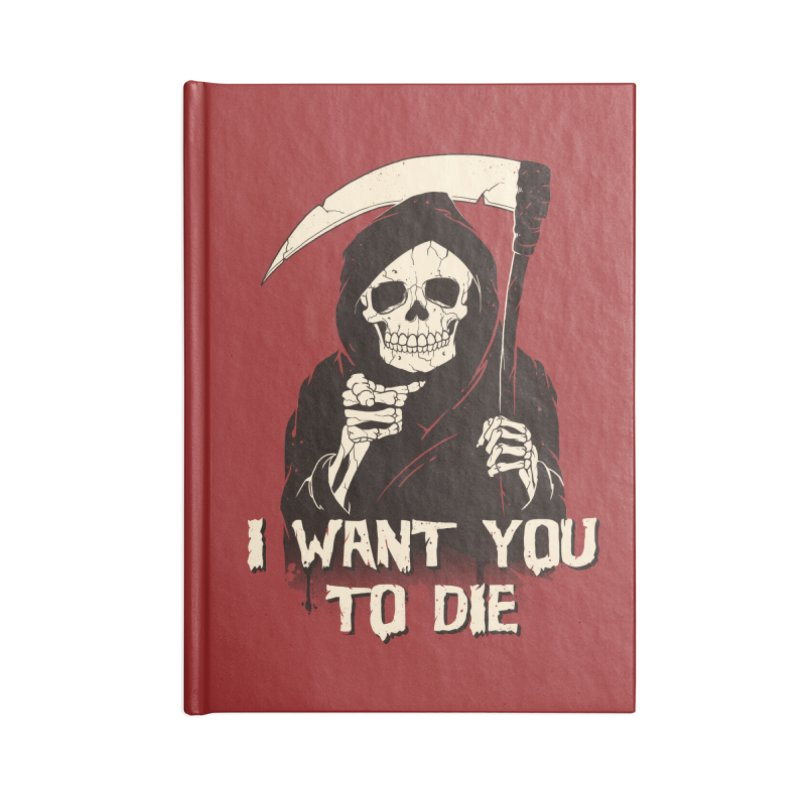 Death Chose You! Accessories Lined Journal Notebook by Vincent Trinidad Art