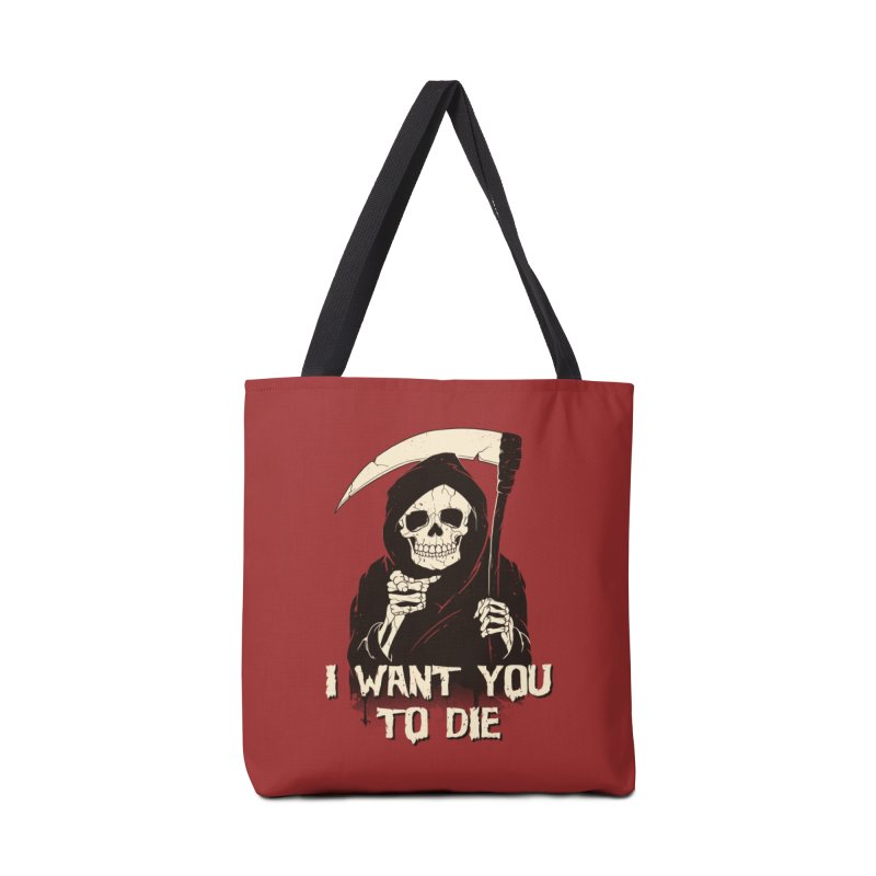 Death Chose You! Accessories Tote Bag Bag by Vincent Trinidad Art