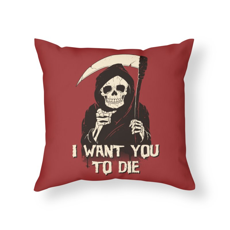 Death Chose You! Home Throw Pillow by Vincent Trinidad Art