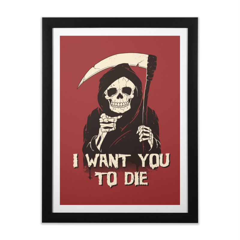 Death Chose You! Home Framed Fine Art Print by Vincent Trinidad Art