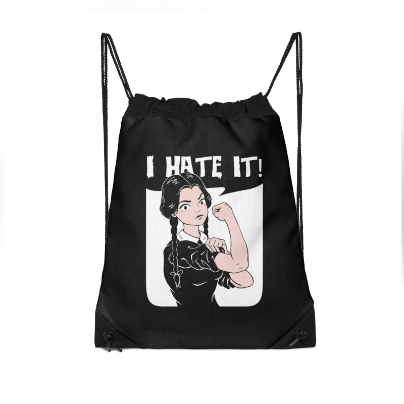 Hate Everything! Accessories Drawstring Bag Bag by Vincent Trinidad Art