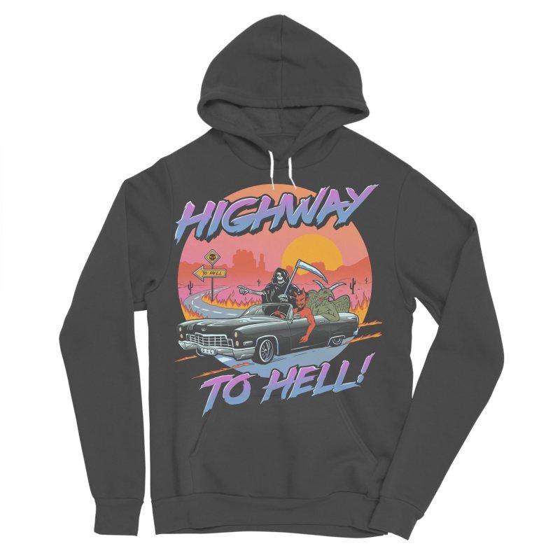 Highway to Hell Men's Sponge Fleece Pullover Hoody by Vincent Trinidad Art
