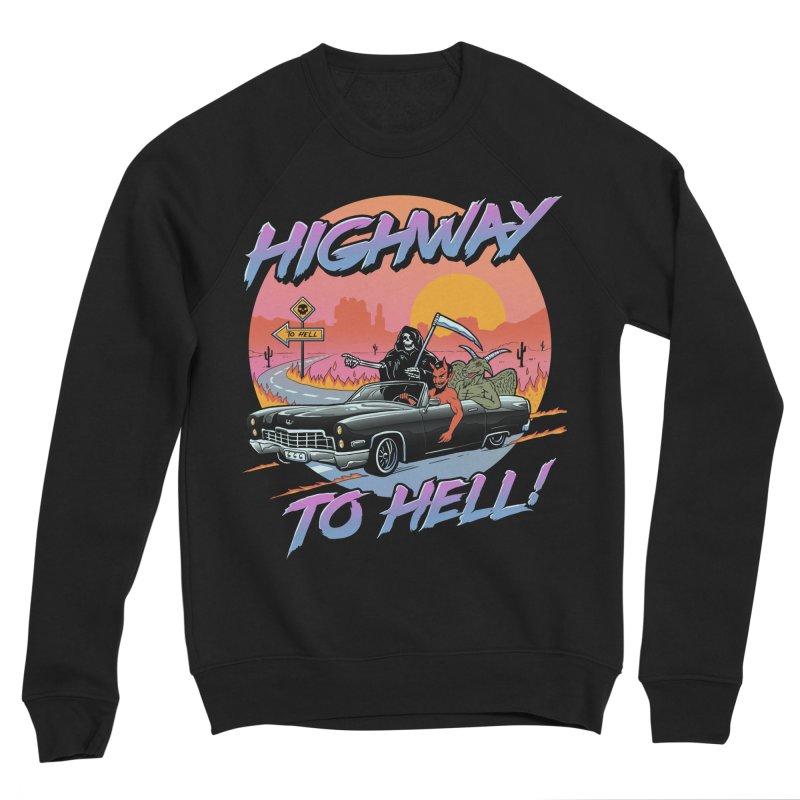 Highway to Hell Men's Sponge Fleece Sweatshirt by Vincent Trinidad Art