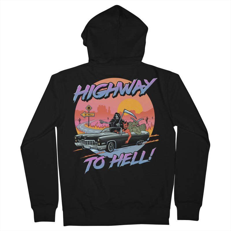 Highway to Hell Women's French Terry Zip-Up Hoody by Vincent Trinidad Art