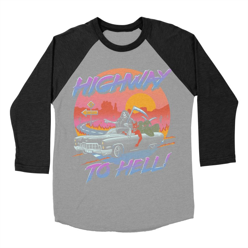 Highway to Hell Men's Baseball Triblend Longsleeve T-Shirt by Vincent Trinidad Art