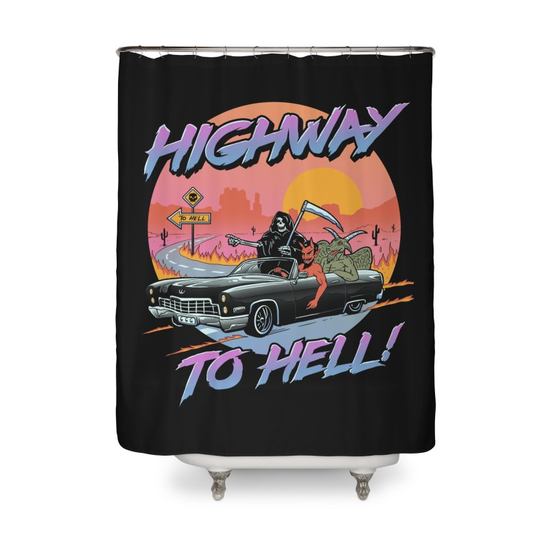 Highway to Hell Home Shower Curtain by Vincent Trinidad Art
