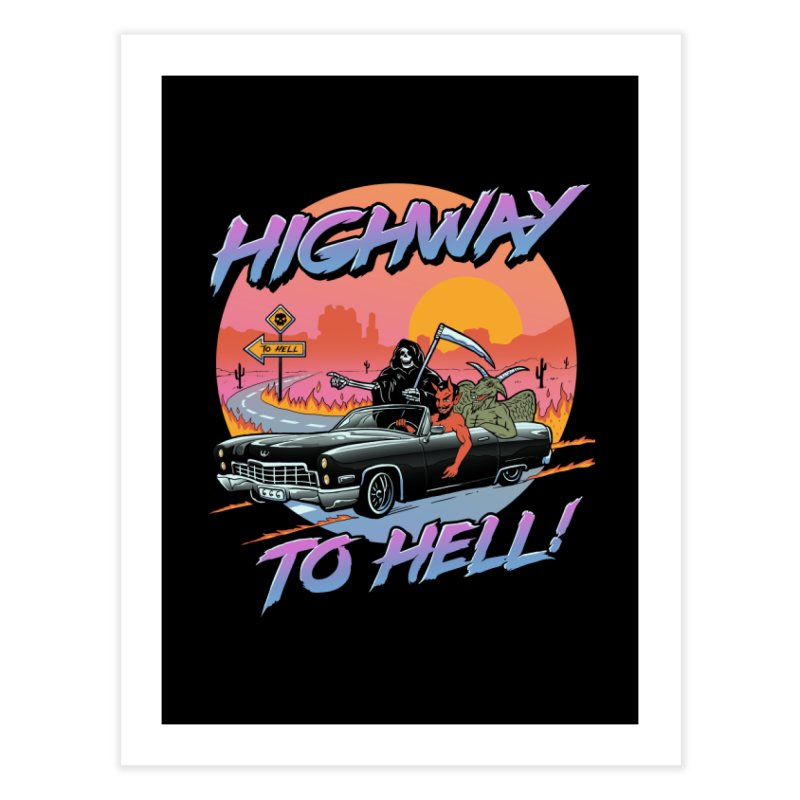 Highway to Hell Home Fine Art Print by Vincent Trinidad Art