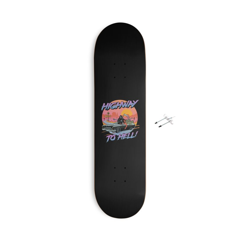 Highway to Hell Accessories With Hanging Hardware Skateboard by Vincent Trinidad Art