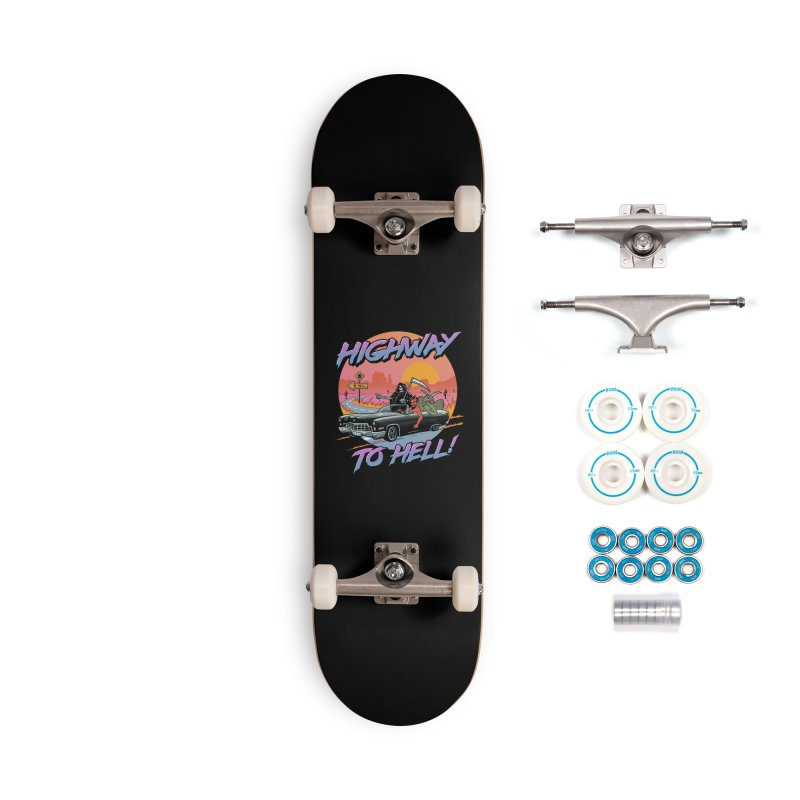 Highway to Hell Accessories Complete - Basic Skateboard by Vincent Trinidad Art