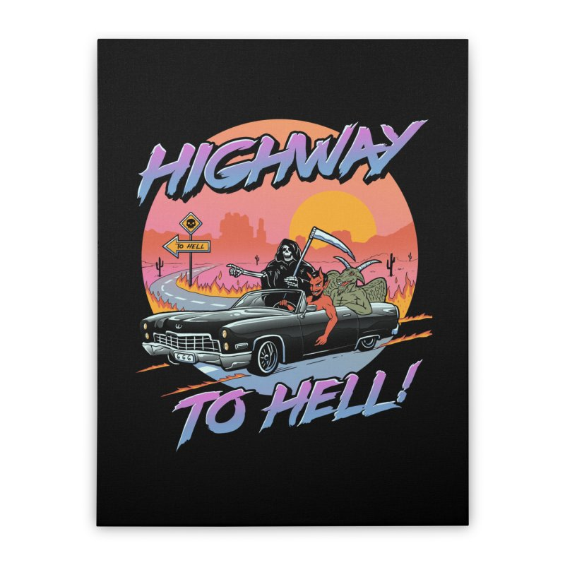 Highway to Hell Home Stretched Canvas by Vincent Trinidad Art