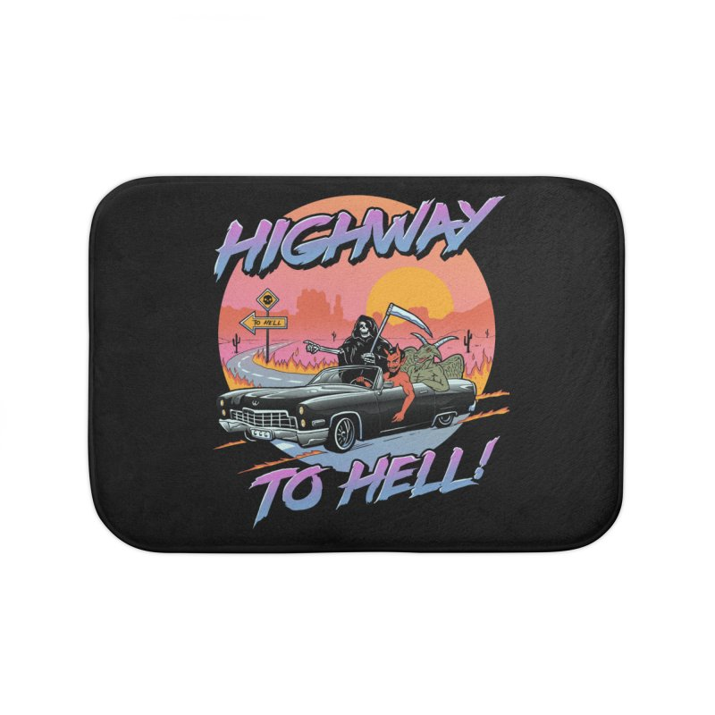 Highway to Hell Home Bath Mat by Vincent Trinidad Art