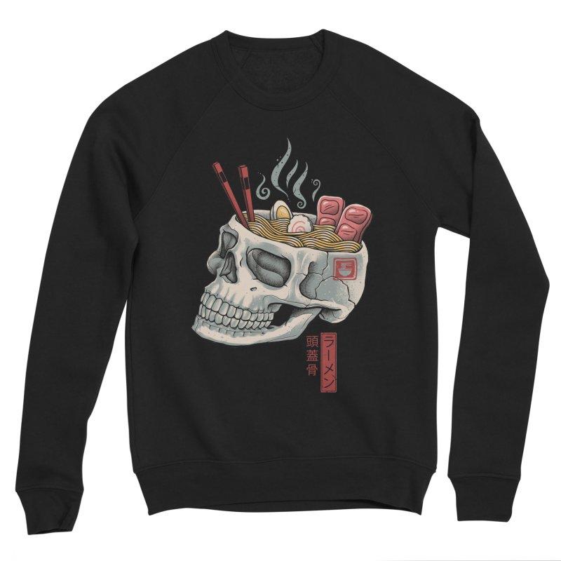 Ramen Skull Men's Sponge Fleece Sweatshirt by Vincent Trinidad Art