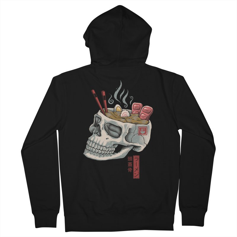 Ramen Skull Men's French Terry Zip-Up Hoody by Vincent Trinidad Art