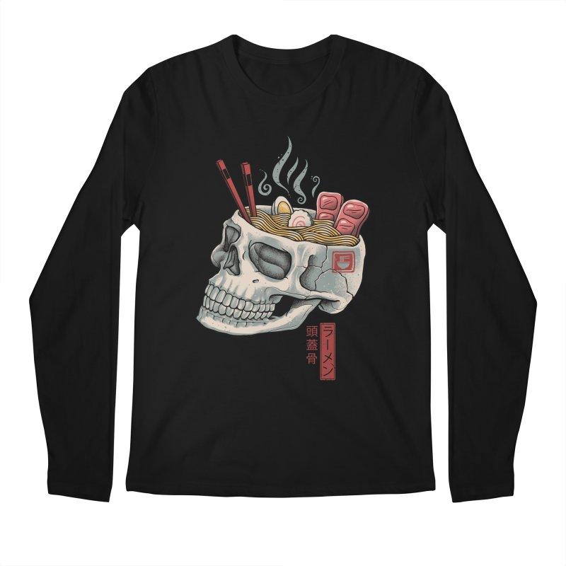 Ramen Skull Men's Regular Longsleeve T-Shirt by Vincent Trinidad Art