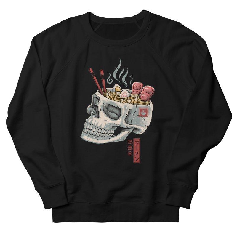 Ramen Skull Women's French Terry Sweatshirt by Vincent Trinidad Art
