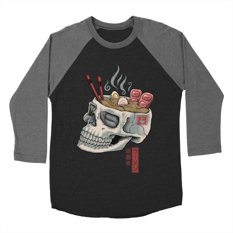 Ramen Skull Women's Baseball Triblend Longsleeve T-Shirt by Vincent Trinidad Art