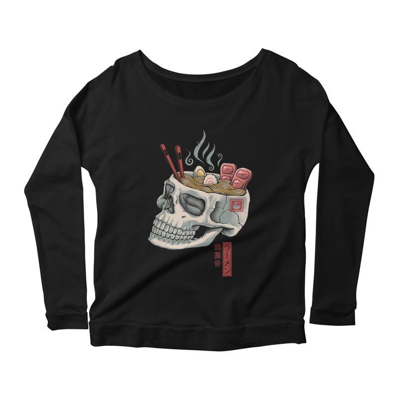 Ramen Skull Women's Scoop Neck Longsleeve T-Shirt by Vincent Trinidad Art