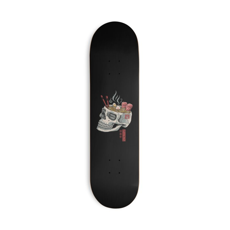 Ramen Skull Accessories Deck Only Skateboard by Vincent Trinidad Art