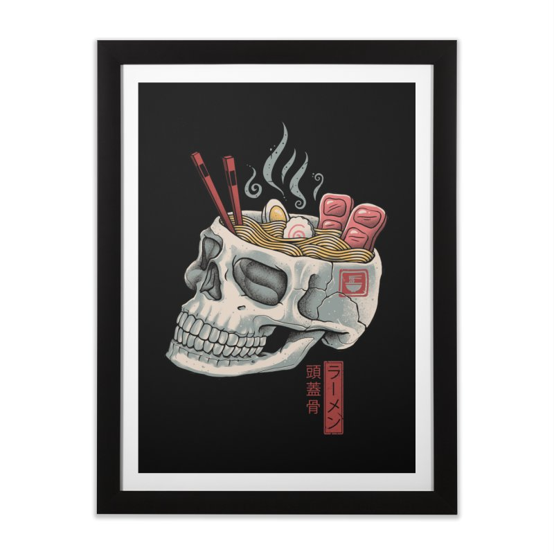 Ramen Skull Home Framed Fine Art Print by Vincent Trinidad Art